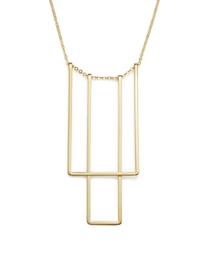 14K Yellow Gold Simple Square Bib Necklace, 17 - 100% Exclusive