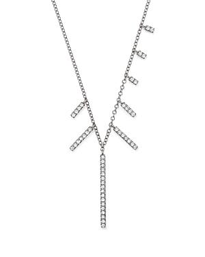 Click here for Meira T 14K White Gold Multi-Diamond Bar Dangle Ne... prices
