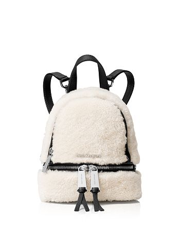 9b280545f792 MICHAEL Michael Kors - Rhea Extra Small Shearling Zip Messenger Backpack