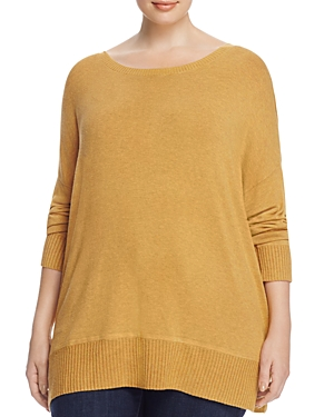 Eileen Fisher Plus Heathered Drop Shoulder Sweater