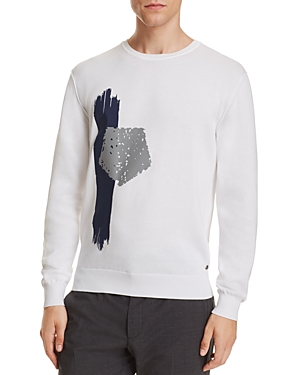 Z Zegna Placed Print Sweater