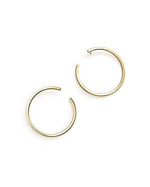Square Tube Hoop Drop Earrings in 14K Yellow Gold - 100% Exclusive