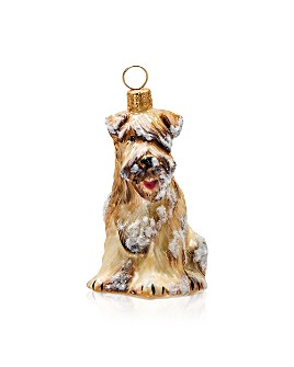 Joy to the World - Soft Coated Wheaten Terrier with Snow Ornament