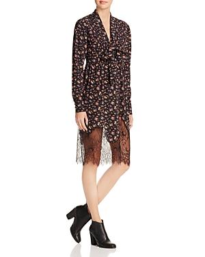 McQ Alexander McQueen Vintage Floral Lace-Hem Peasant Dress
