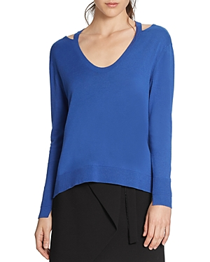 Halston Heritage Cutout Sweater