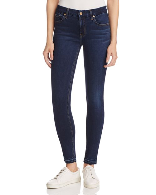 7 For All Mankind - b(air) The Ankle Skinny Jeans in Dark Wash