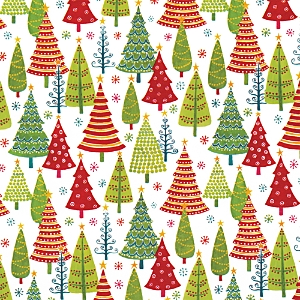 Caspari Tree Farm Gift Wrap