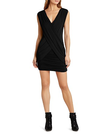 $BCBGMAXAZRIA Alondra Draped Crossover Dress - Bloomingdale's