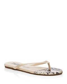 TKEES - Women's Patent Leather Flip-Flops