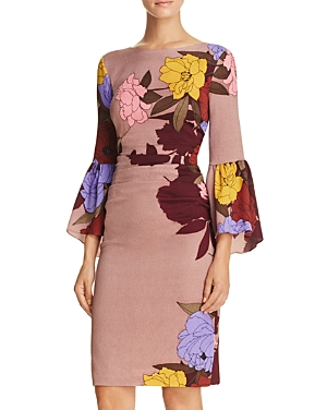 Tracy Reese Flounce Sleeve Dress