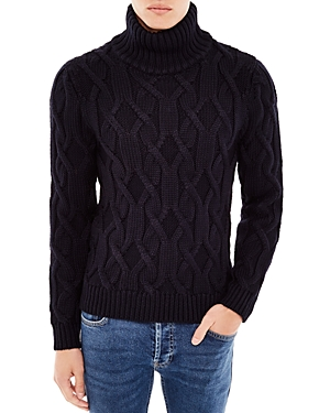 Sandro Mont Blanc Cable-Knit Turtleneck Sweater