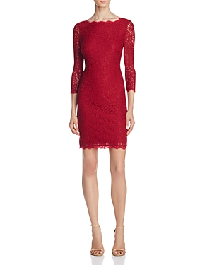 Adrianna Papell Illusion Sleeve Lace Dress
