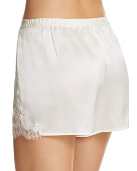 GINIA - Lace-Trim Silk Boxers