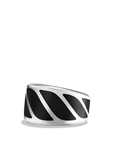 David Yurman - Graphic Cable Band Ring with Black Onyx