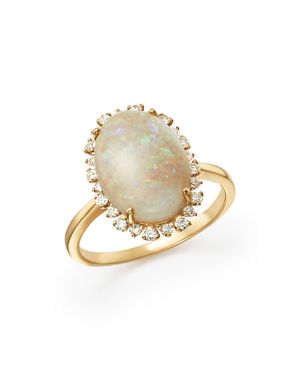 Opal and Diamond Statement Ring in 14K Yellow Gold - 100% Exclusive