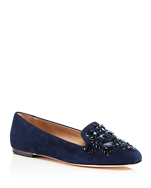 Tory Burch Delphine Embellished Logo Loafers