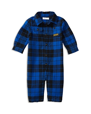 Ralph Lauren Childrenswear Infant Boys' Herringbone Twill Plaid Coverall - Sizes 3-12 Months
