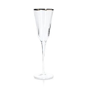 Vietri Optical Platinum Champagne Flute