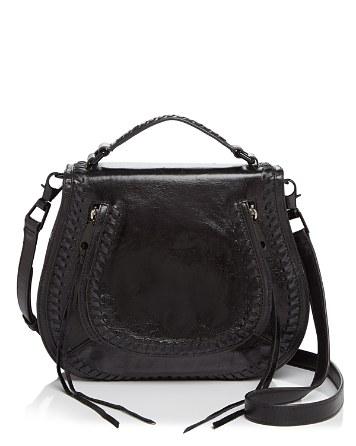 $Rebecca Minkoff Vanity Distressed Saddle Bag - Bloomingdale's