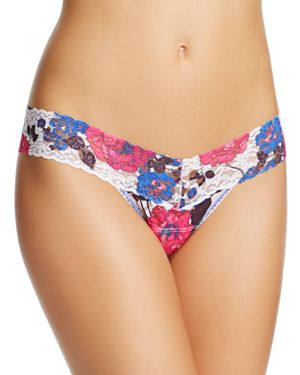 Hanky Panky Resort Floral Low-Rise Thong #7S1585