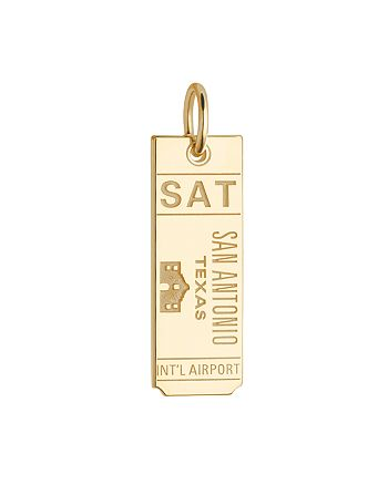 Jet Set Candy - SAT San Antonio Texas Luggage Tag Charm