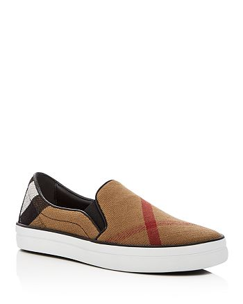 Burberry - Women's Gauden Signature Plaid Slip-On Sneakers
