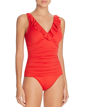 Lauren Ralph Lauren Beach Ruffled One Piece Swimsuit