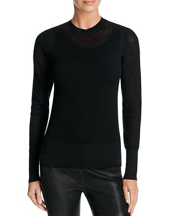DKNY - Crewneck Mesh Sweater