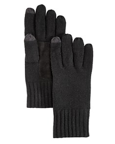 The Men's Store at Bloomingdale's Suede Patch Tech Gloves _0