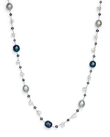 """Bloomingdale's - Cultured Freshwater Pearl and Keshi Pearl Necklace in 14K White Gold, 18""""- 100% Exclusive"""