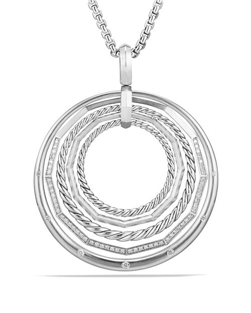 David Yurman - Stax Large Pendant Necklace with Diamonds