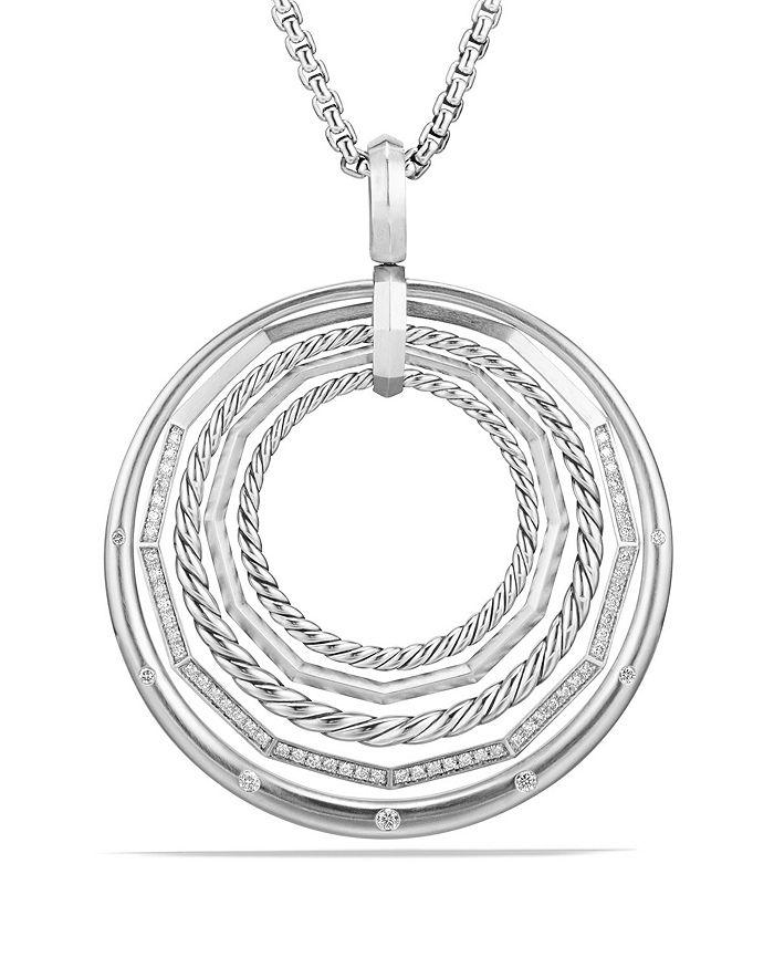 David Yurman - Stax Large Pendant Necklace with Diamonds