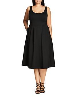 City Chic Plus - Classic Longline Dress