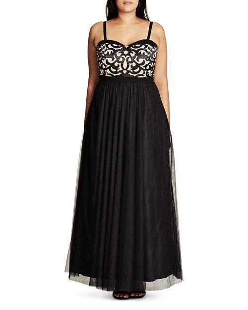 City Chic Plus - It Girl Maxi Dress