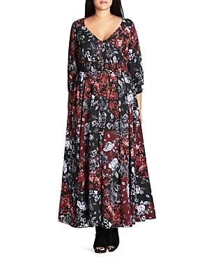 New City Chic Puzzle Piece Maxi Dress, Black