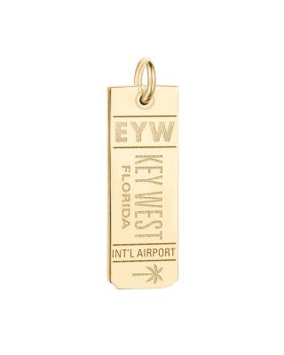 JET SET CANDY Eyw Key West Luggage Tag Charm in Gold