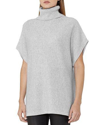 REISS - Ebony Turtleneck Batwing Sleeve Sweater