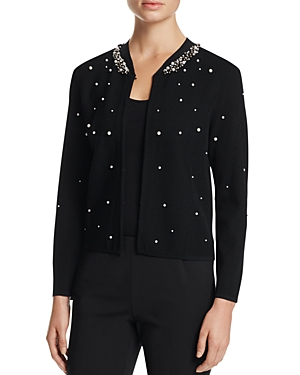 Finity Faux Pearl Embellished Sweater