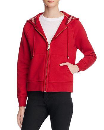Burberry - Zip Front Hooded Sweatshirt