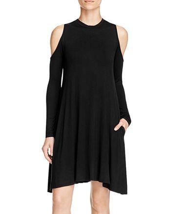 Elan - Cold-Shoulder Swing Dress