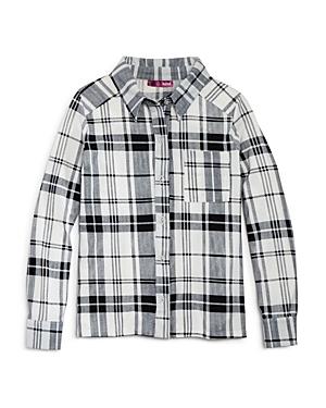 Aqua Girls' Plaid Shirt, Big Kid - 100% Exclusive
