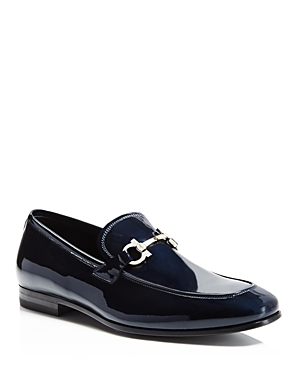 Salvatore Ferragamo Double Gancini Bit Patent Leather Loafers