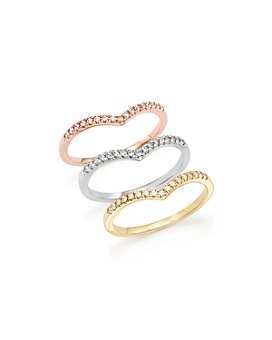 Bloomingdale's - Diamond Micro Pavé Stackable Chevron Band in 14K Gold, 0.10 ct. t.w. - 100% Exclusive