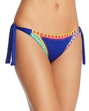 Platinum Side Tie Crochet Trim Bikini Bottom - 100% Exclusive