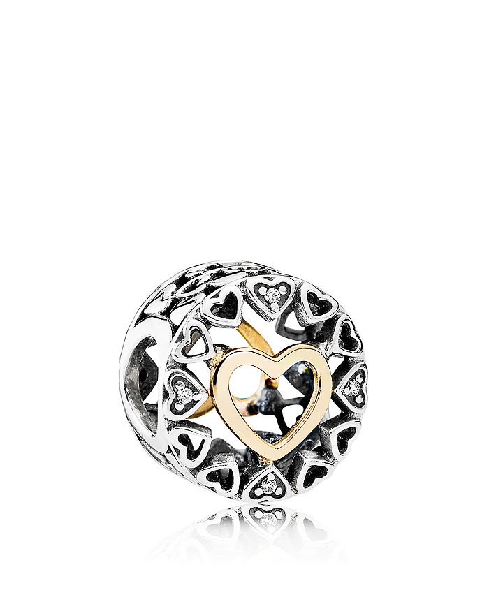 PANDORA - Charm - Sterling Silver & Cubic Zirconia Loving Circle, Moments Collection