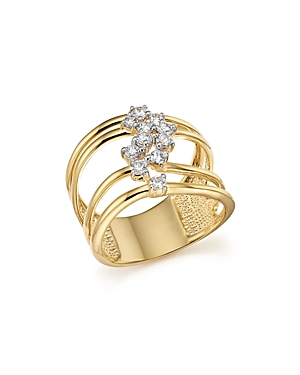 Diamond Multi Row Band in 14K Yellow Gold, .50 ct. t.w. - 100% Exclusive