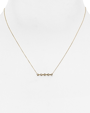 Adina Reyter 14K Yellow Gold Bar Pendant Necklace with Diamonds, 14