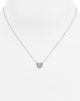 6d7cb772e45 Adina Reyter - 14K Yellow Gold Folded Heart Pendant Necklace with Diamonds