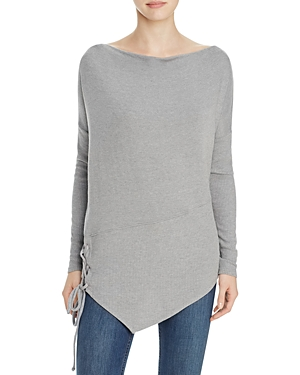 Red Haute Side-Laced Tunic Sweater