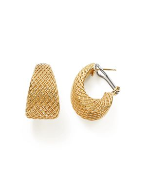 Roberto Coin 18K Yellow Gold Silk Dome Earrings